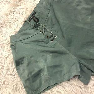 Green forever 21 shorts